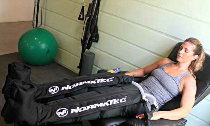 New Path Chiropractic - Greenwich: Up to 56% Off Normatec Recovery Boot at New Path Chiropractic: Wellness and Sports Rehab Center