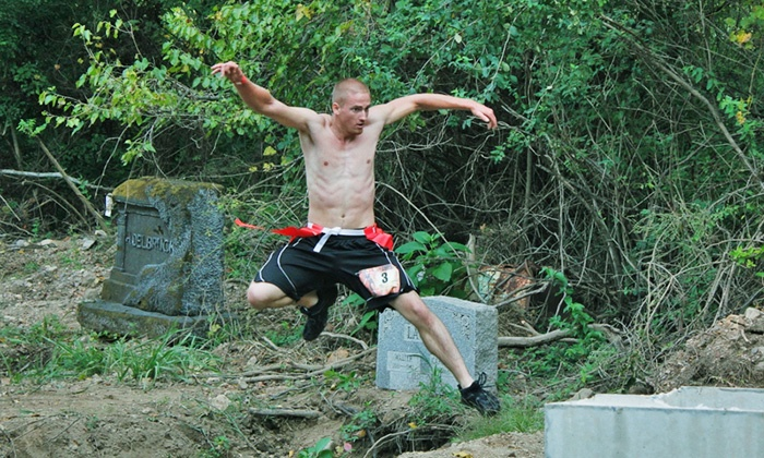 The Zombie Mud Run - Osnaburg: Race as Human or Zombie, Zombie Only, or Junior Human or Zombie at Zombie Mud Run August 23 (Up to51% Off)