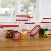 Plastic Food Storage Set with Microwave Vents (24-Piece)