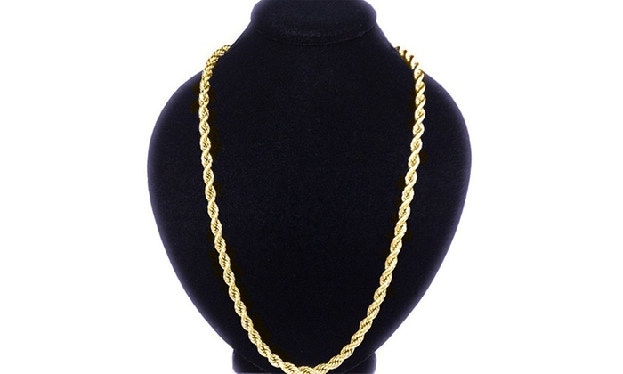964d5e59721bc Solid 10K Gold Men's Rope Chain