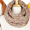 Knit Neck Warmer Infinity Scarves