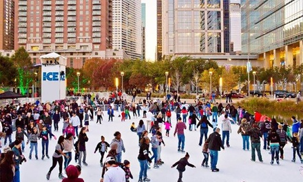 90-Minute Rink Admission and Skate Rental for Two or Four at The ICE at Discovery Green (Up to 43% Off)