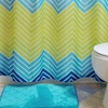 Chevron Bath Set with Quilted Bath Mat