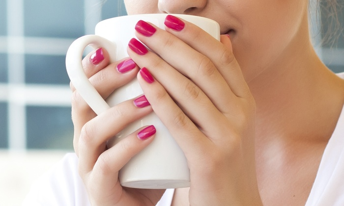CiCi Nails & Spa - North Center: Two Gelish No Chip Manicures or Two Classic Manicures with Spa Pedicures at CiCi Nails & Spa (Up to 43% Off)