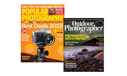 1- or 2-Year Subscription to Outdoor Photography or Popular Photography Magazines