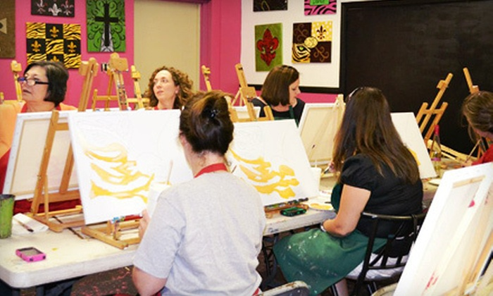 Creations Bayou - Greenwell Springs/Central: Adult Canvas Painting Class for One, Two, or Four at Creations Bayou (Up to 54% Off)