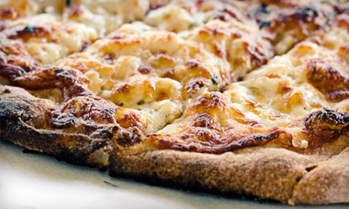 Tomato Head Pizza Kitchen - Multiple Locations: $10 for Large Cheese Pizza and One Side at Tomato Head Pizza Kitchen ($20.45 Total Value). Two Locations Available.