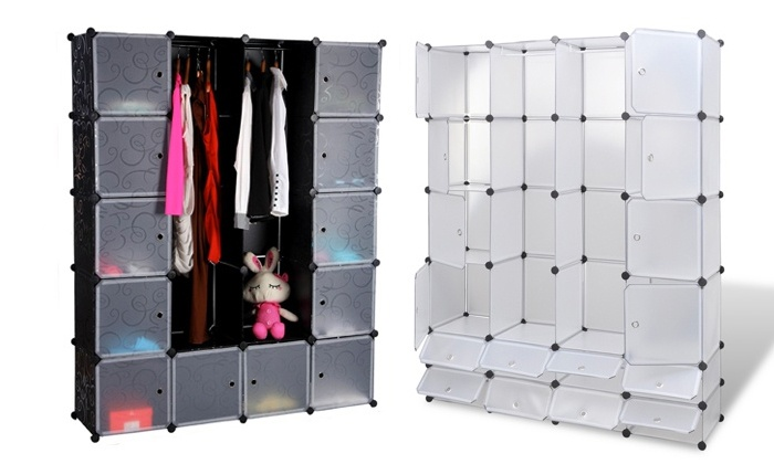 armoire de rangement modulable groupon shopping. Black Bedroom Furniture Sets. Home Design Ideas