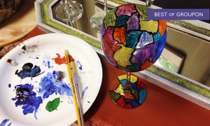 SunDust Gallery: BYOB Wine Glass Painting Class for One, Two, or Four at SunDust Gallery (Up to 54% Off)