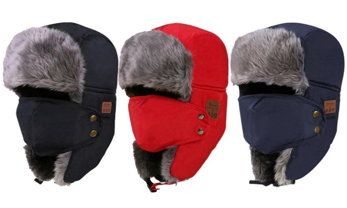 9df42e1310292 Up To 67% Off on Bluetooth Fur Winter Trapper Hat