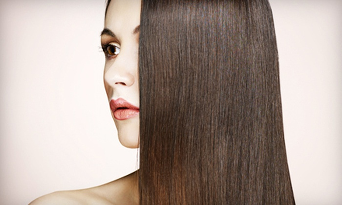 Angel Salon and Day Spa - Sugarland: Haircut with Optional Color or Highlights, or a Keratin Treatment at Angel Salon and Day Spa (Up to 75% Off)