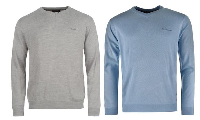 79,99 zł: męskie swetry Pierre Cardin z dekoltem typu serek – 4 kolory