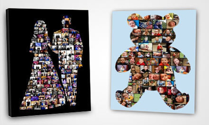 "Customizable Collage Canvas: $45 for a 16""x20"" Customizable Collage Canvas from Collage.com ($89.99 List Price) with Shipping Included ($105.97 Total Value)"