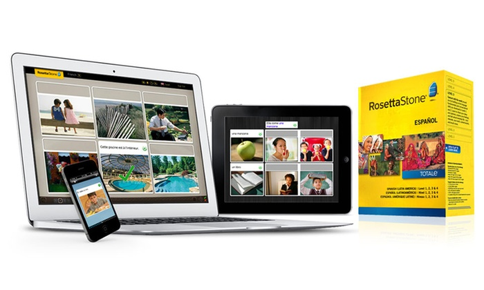 Rosetta Stone Level 1–4 in English or French: Rosetta Stone Level 1–4 in English or French