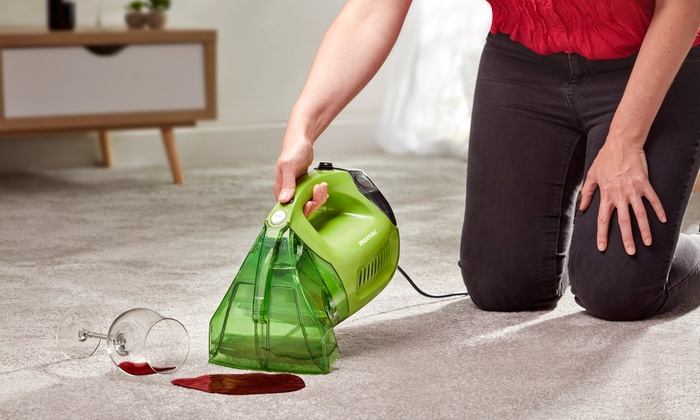 Maxi-Vac Handheld Carpet Cleaner with Optional Fluid and Accessories
