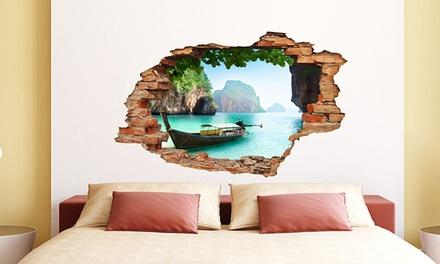 wandtattoo mit 3d effekt und landschafts oder naturmotiv nach wahl inkl versand 66 sparen. Black Bedroom Furniture Sets. Home Design Ideas
