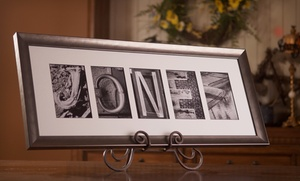 Sticks and Stones: $59.99 for $139.99 Worth of Personalized and Framed Alphabet-Photography Keepsake Art from Sticks and Stones