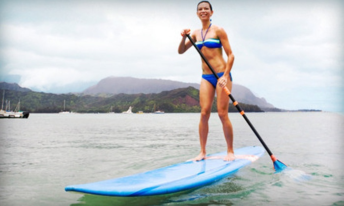 Whitlock Surf Experience - Townsite: Surfing or Paddleboarding Lesson with Gear for One, Two, or Four from Whitlock Surf Experience (Up to 72% Off)
