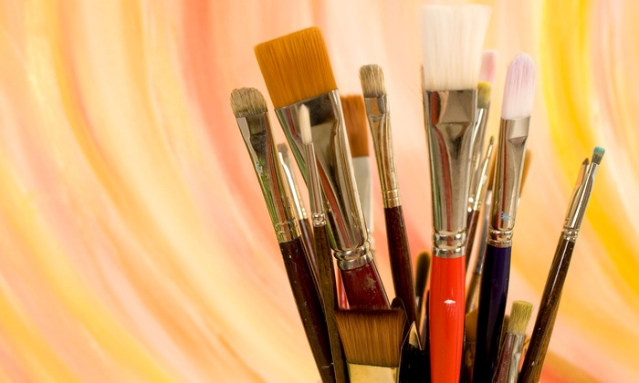 Arte Wine and Painting Studio - Delafield: Open Painting Session and Drinks or Painting Class and Drinks for Two at Arte Wine and Painting Studio (Up to 51% Off)