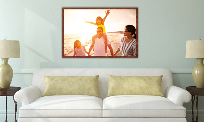 "MyPix2.com: 16""x20"", 20""x24"", 24""x36"", or 36""x48"" Personalized Photo Poster from MyPix2.com (Up to 75% Off)"