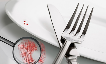 $85 for a Murder-Mystery Dinner for Two with Souvenir Mugs from The Dinner Detective ($161.60 Value)