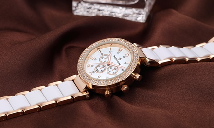 Timothy Stone Womens Watch with Crystals