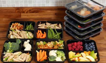 10Pack One, Two or ThreeCompartment Food Prep Containers