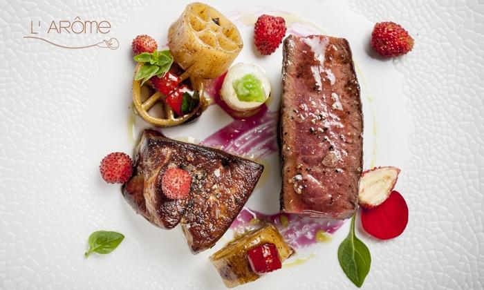 Dîner de prestige composé par le chef Thomas Boullault dès 82 € pour 1, 2 ou 4 convives au restaurant étoilé L'Arôme