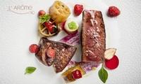 Dîner composé par le chef Thomas Boullault dès 69 € pour 1, 2 ou 4 convives au restaurant étoilé LArôme