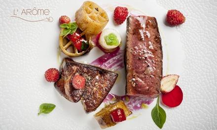 Dîner ou déjeuner composé par le chef Thomas Boullault dès 59 € pour 1, 2 ou 4 convives au restaurant étoilé L'Arôme