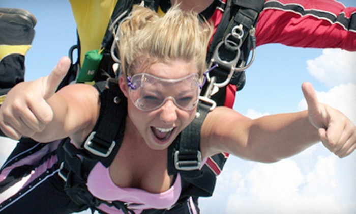 Skydive Temple - South Bell: $165 for a Tandem Skydiving Jump at Sportations (Up to $299.99 Value)