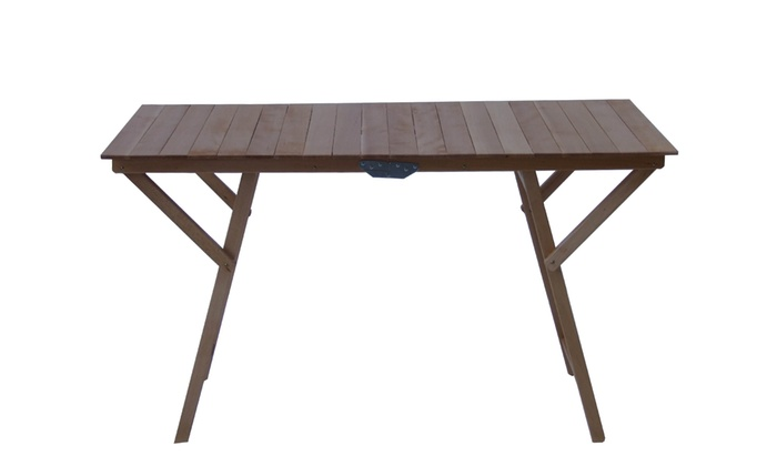 Tavoli e sedie in legno di faggio groupon goods - Tavoli e sedie pieghevoli da giardino ...