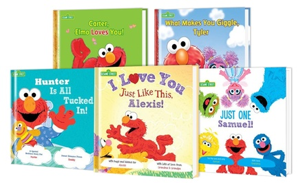 1, 2, 3, or 5 Personalized Sesame Street Storybooks by Put Me in the Story from $14–$59