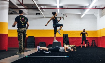 Three or Five Boot-Camp Classes, or One Month of Unlimited Classes at Warrior Fitness Boot Camp (Up to 73% Off)