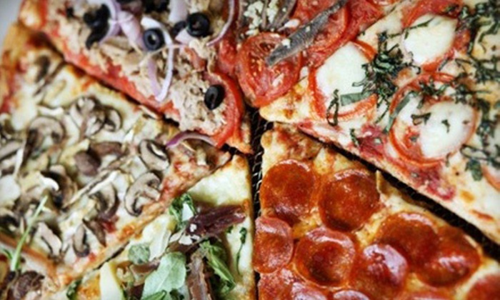 Fogo 2 Go - Lakeview: Brick-Oven Brazilian-Style Pizza & Chicken at Fogo 2 Go (45% Off). Two Options Available.
