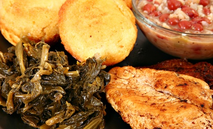 Soul Food and Wine for Two on Weekdays or Weekends at Jackson Soul Food (40% Off)