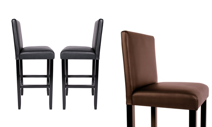 lot de 2 ou 4 tabourets de bar simili cuir groupon shopping. Black Bedroom Furniture Sets. Home Design Ideas