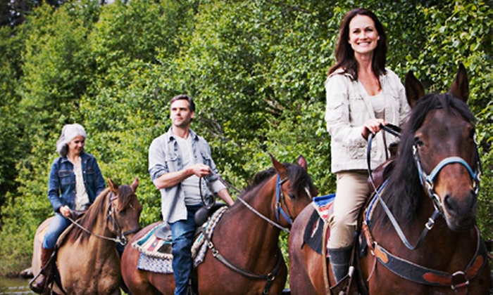 Misty Farms - Gibsonton: $49 for a 90-Minute Guided Horseback Trail Ride with Lunch at Misty Farms ($100 Value)