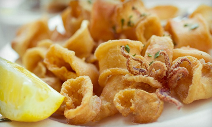 Delia's Lounge - Bay Ridge & Fort Hamilton: Seafood Dinner for Two or Four with Appetizers and Beer at Delia's Lounge (Up to 55% Off)