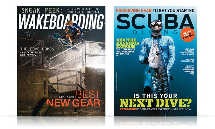 1-Year Subscription to Scuba Diving or Wakeboarding: 1-Year Subscription to Scuba Diving or Wakeboarding Magazine