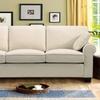 Three-Seater Sofa with Two Throw Pillows