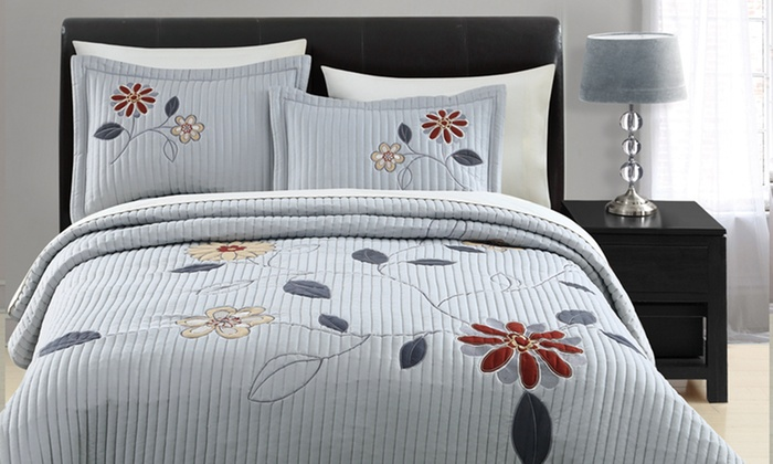 3-Piece Quilted Applique Coverlet Set: 3-Piece Quilted Applique Coverlet Set. Multiple Options Available from $44.99–$49.99. Free Shipping and Returns.