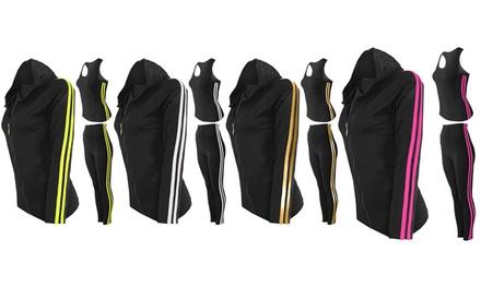 Contrast Stripe Activewear Set