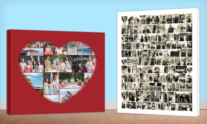 """Collage.com: $19.99 for a 16""""x20"""" Custom Photo-Collage Canvas from Collage.com ($89.99 Value)"""