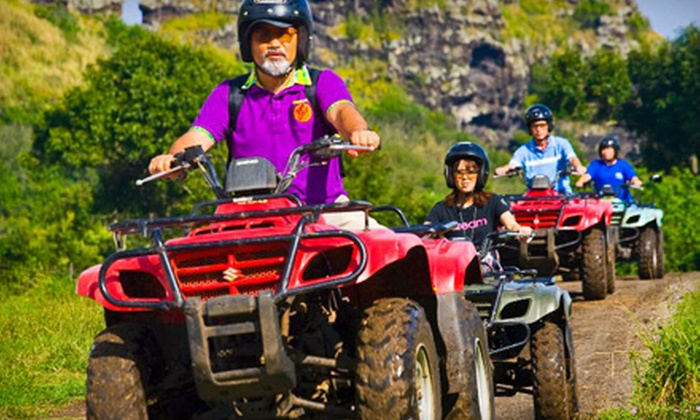 Kualoa Ranch - Kaneohe: Explore Kualoa Weekend Tour with Option for an ATV or Horseback Ride on December 8 or 9 at Kualoa Ranch (Up to 74% Off)