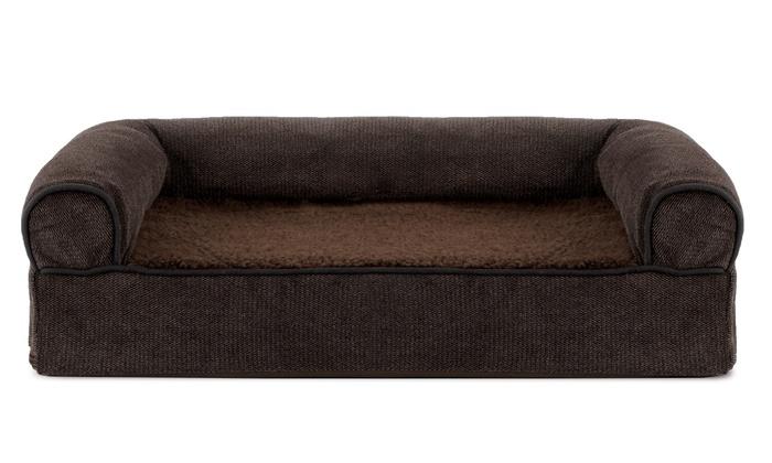 ... Faux Fleece Chenille Soft Woven Sofa Style Orthopedic Pet Bed:  Faux Fleece ...