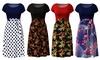 Women's Color-Block Dress. Plus Sizes Available.