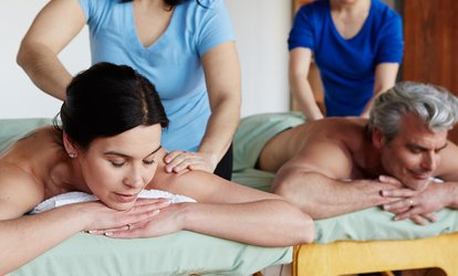 image for Individual or <strong>Couples <strong>Massage</strong></strong> Package with Warm Spa Rocks at Journey <strong>Massage</strong> & Spa Services (Up to 42% Off)