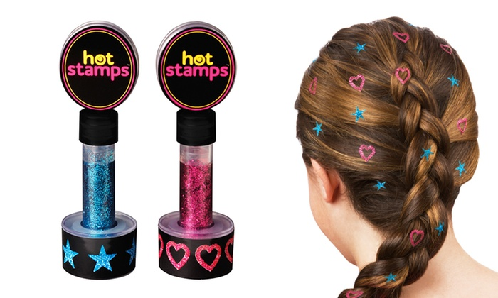 As Seen on TV Hot Stamps Hair Glitter (2-Pack)