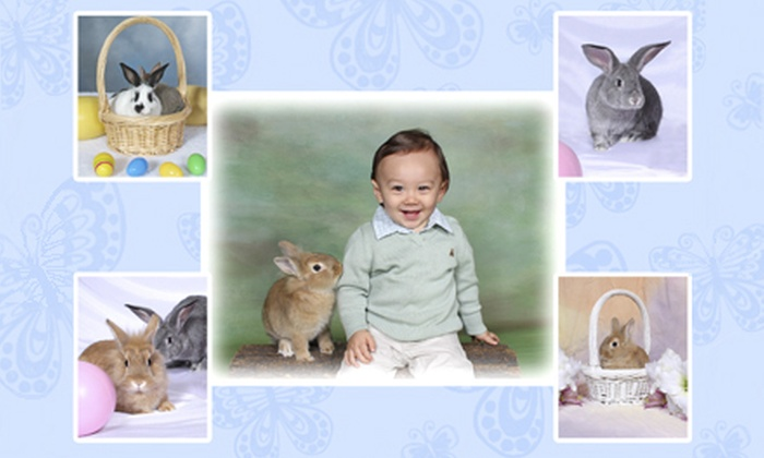 MotoPhoto - Central Oklahoma City: $35 for an Easter Family-Portrait Package with Live Bunnies Prints and a CD at MotoPhoto ($175 Value)